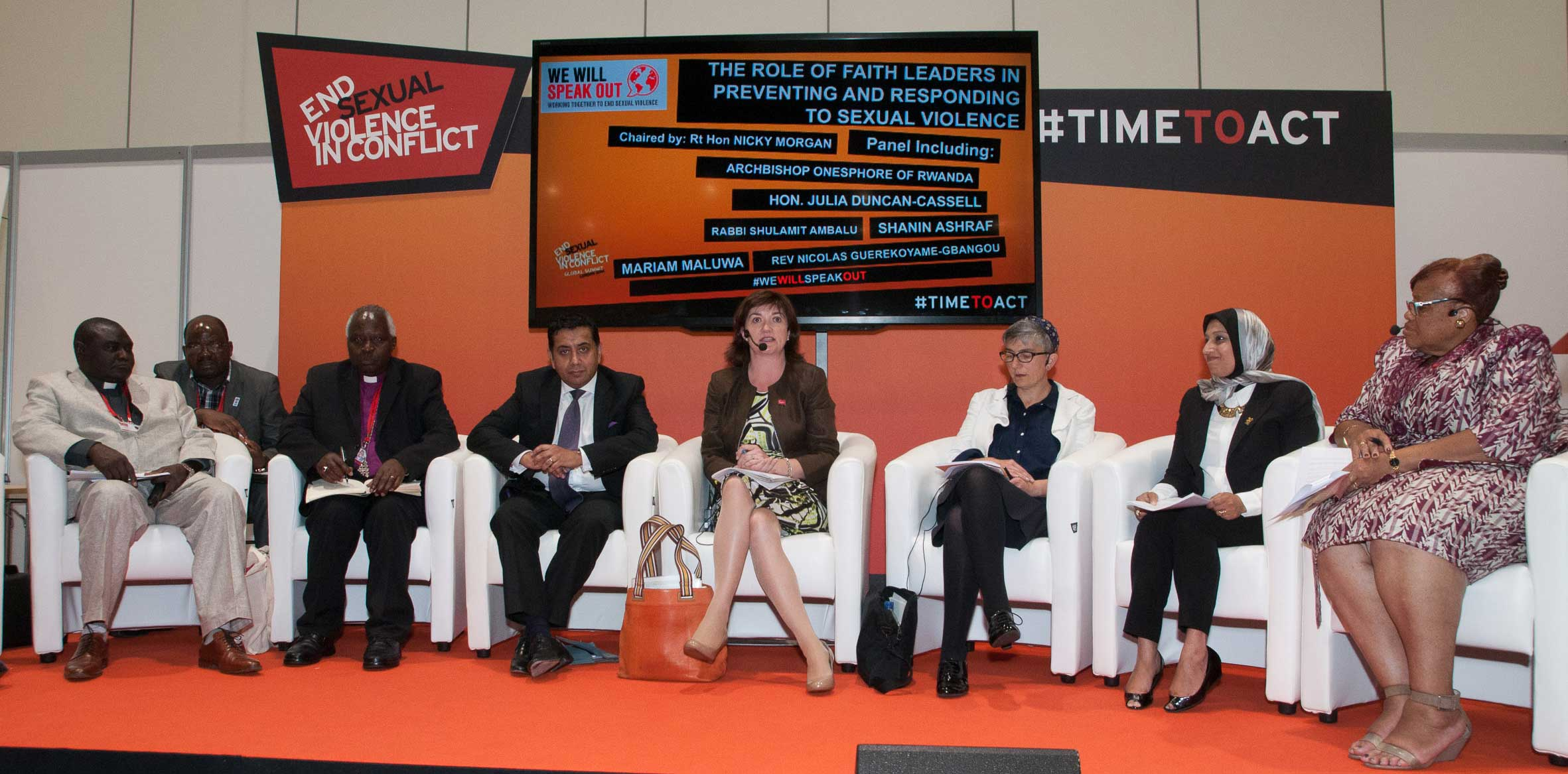 Faith panel at Global Summit to End Sexual Violence
